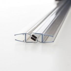 Magnet Dichtprofil 180° (2x90°) 6/8mm L=2.500mm KU transparent