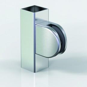 Klemmbefestigung 60x55mm halbrund Flach Glas 9,52 A4 poliert